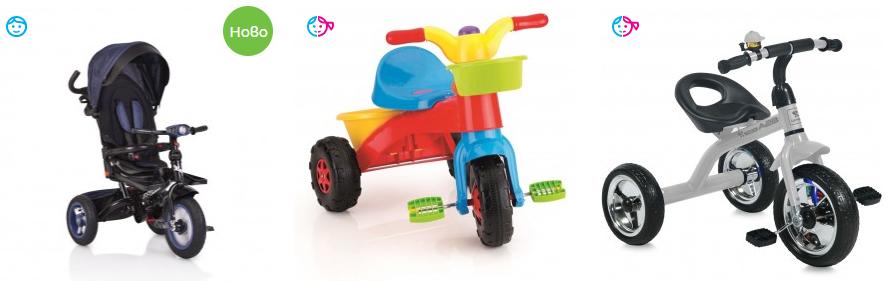 Детски триколки с родителски контрол-toys